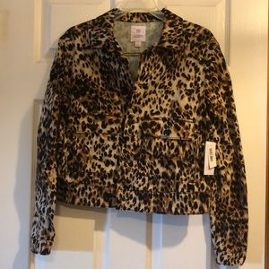 Animal Print Small LulaRoe Kenny Denim Jacket